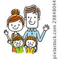 微笑的四口之家人 29848044