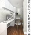 3d rendering working room with upper light 29849066