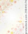벚꽃 흩 날리는 일본식 디자인 29849376