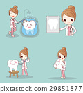 dentist with tooth 29851877