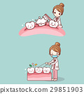 woman dentist with tooth 29851903
