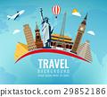 World landmarks. Travel and tourism background 29852186