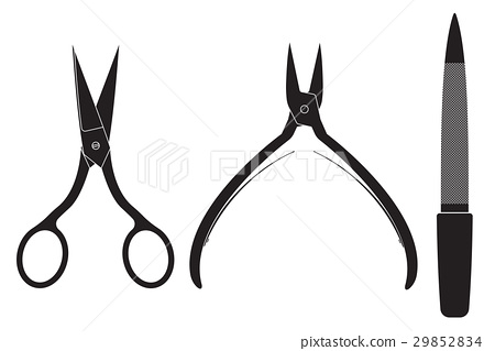 Manicure set. Scissors, nippers, file 29852834