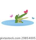 鱷魚 爬行動物 向量 29854005