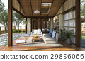 contemporary wood living zone with terrace 29856066