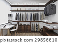 3D rendering walk-in closet with make up table 29856610