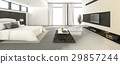 huge and wide space white bedroom 29857244