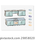 vector, kitchen, drawing 29858020