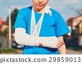 Boy with broken hand 29859013