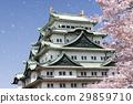 Nagoya city scenery · Spring's Nagoya castle 29859710