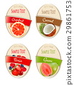 Set of labels of berries and fruit.  29861753
