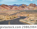 Road to sandstone mountain in Valley of Fire 29862064
