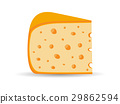 Triangle cheese with holes isolated. Vector 29862594