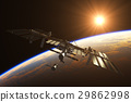 International Space Station On The Background Of 29862998