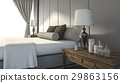 bed, lamp, interior 29863156