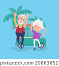 Happy funny grandparents couple on vacation 29863652