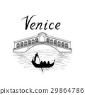 Venice City famous bridge Travel Italy background 29864786