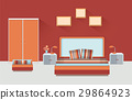 Home room interior. Bedroom furniture with bed 29864923