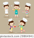 set of Children Cooking 29864941