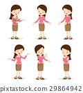 teacher woman  various actions 29864942