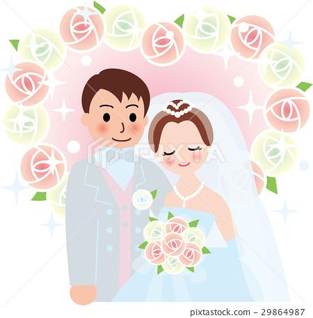 矢量 新郎 新娘 29864987