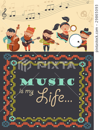 Cute musicians and dancer 29865093