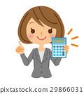 计算器 事业女性 商务女性 29866031