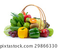 vegetables and fruits on white background 29866330