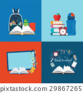 Back to school theme set with books. 29867265
