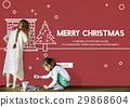 Merry Christmas Santa Clause Festive Holiday Concept 29868604