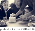 Family Celebrating Birthday Cake Smile Happy 29869034