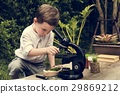 Little Kid Experimenting Science Microscope 29869212