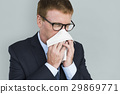Business Man Sick Cry Tissue Paper 29869771