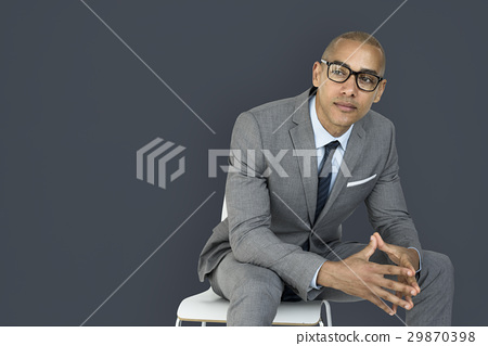 African Descent Business Man Thinking Concept 29870398