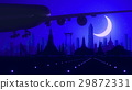 Bangkok Airplane Landing Skyline Blue Moonlight 29872331