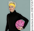Woman Smiling Happiness Basketball Sport Portrait 29872567