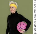 Woman Smiling Happiness Basketball Sport Portrait 29872623