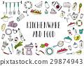 food, kitchen, set 29874943