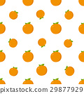 Seamless Pattern. Orange Fruits Background 29877929