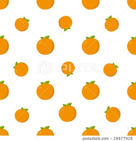 Seamless Pattern. Orange Fruits Background 29877929