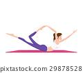 woman doing yoga 29878528