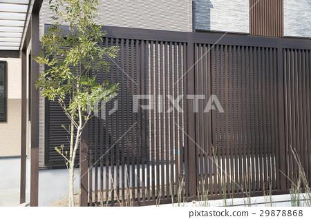 住房外部垂直格子栅栏 29878868