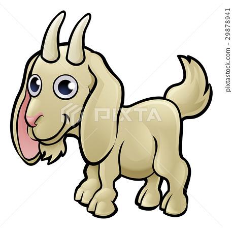 Goat Farm Animals Cartoon Character 29878941