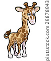 giraffe, animal, cartoon 29878943