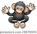 Chimp Safari Animals Cartoon Character 29878945