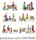 family, set, shopping 29879685