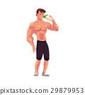 bodybuilder, vector, drink 29879953