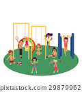 Kids, children playing at playground, summer 29879962