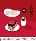 vector, delicious, cake 29880150