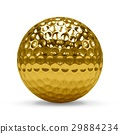 Isolated Golden golf Ball with white background 29884234
